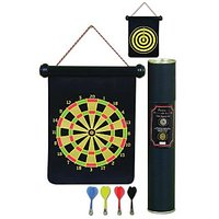PROTONER MAGNETIC FOLDABLE DART BOARD TWO SIDED 17 INCHES