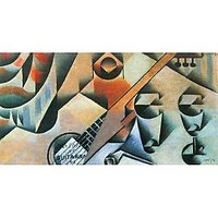 Banjo (Guitar) And Glasses By Juan Gris - Fine Art Print