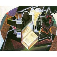 Book, Pipe And Glasses By Juan Gris - Fine Art Print