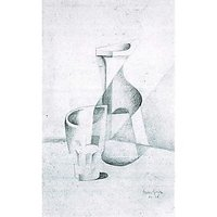 Caraffe And Glass By Juan Gris - Canvas Art Print