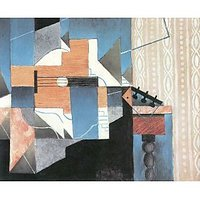 Guitar And Glass By Juan Gris - Canvas Art Print