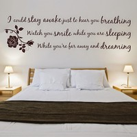 DeStudio Aerosmith Breathing Wall Sticker Quote Bedroom Art Wall Sticker Size (45cms X 60cms)