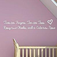 DeStudio Baby Quote Children Cute Kids Baby Wall Sticker Decal Wallart Home Size (45cms X 60cms)