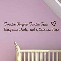 DeStudio Baby Quote Children Cute Kids Baby Wall Sticker Decal Wallart Vinyl Size (45cms X 60cms)
