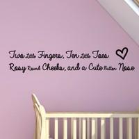 DeStudio Baby Quote Children Cute Kids Baby Wall Sticker Decal Wallart Size (45cms X 60cms)