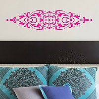 DeStudio Bed Ornamental Vintage Wall Sticker Decal Wallart Home Wall Sticker Size (45cms X 60cms)