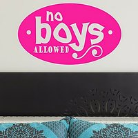 DeStudio Boys Wall Sticker Kids Sign Bedroom Decal Wallart Home Wall Sticker Size (60cms X 60cms)