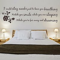 DeStudio Erosmith Breathing Extra Wall Sticker Quote Bedroom Art Wall Sticker Size (45cms X 60cms)