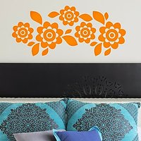 DeStudio Floral Decor Flowers Border Mural Wall Sticker Decal Home Size (45cms X 60cms)