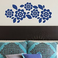 DeStudio Floral Decor Flowers Border Mural Wall Sticker Decal Home Wall Sticker Size (45cms X 60cms)