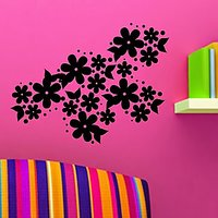 DeStudio Flower Floral Bedroom Living Room Lounge Wall Sticker Decal Wall Art Size (45cms X 60cms) - 74431942