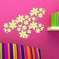 DeStudio Flower Floral Bedroom Living Room Lounge Wall Sticker Decal Wall Art Size (45cms X 60cms)