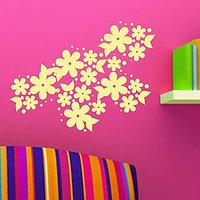 DeStudio Flower Floral Bedroom Living Room Lounge Wall Sticker Decal Wall Art Size (45cms X 60cms) - 74431950