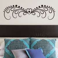 DeStudio Heart Border Bed Decor Love Wall Sticker Decal Wallart Wall Sticker Size (45cms X 60cms)