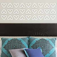 DeStudio Hearts Border Fun Decor Decoration Bed Wall Sticker Decal Wall Sticker Size (45cms X 60cms)