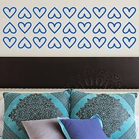 DeStudio Hearts Border Fun Decor Decoration Bed Wall Sticker Decal2 Size (45cms X 60cms)