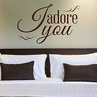 DeStudio I Adore You Love Bedroom Wall Sticker Decal Wallart Home Wall Sticker Size (45cms X 60cms)