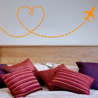 DeStudio Love Is In The Air Decorative Wall Sticker Decal Wallart Wall Sticker Size (45cms X 60cms)