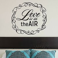 DeStudio Love Is In The Air Decorative Wall Sticker Decal Wallart Home Size (45cms X 60cms)