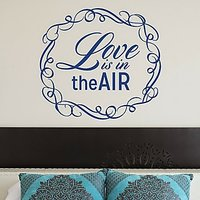 DeStudio Love Is In The Air Decorative Wall Sticker Decal Wallart Vinyl Size (60cms X 60cms)