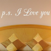 DeStudio Love Quote I Love You Bedroom Lounge Living Room Wall Sticker Wall Art Size (45cms X 60cms)