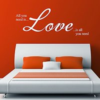 DeStudio Love Wall Sticker All You Need Bedroom Lounge Living Room Quote Home Size (45cms X 60cms)