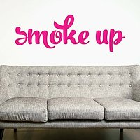 DeStudio Smoke Quote Bedroom Wall Sticker Decal Wallart Home Wall Sticker Size (45cms X 60cms)