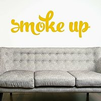 DeStudio Smoke Quote Bedroom Wall Sticker Decal Wallart Vinyl Wall Sticker Size (45cms X 60cms)