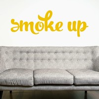 DeStudio Smoke Quote Bedroom Wall Sticker Decal Wallart Vinyl Wall Sticker Size (60cms X 60cms)