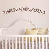 DeStudio Sweetheart Sweets Love Wall Sticker Decal Wallart Vinyl Wall Sticker Size (45cms X 60cms)