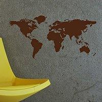 DeStudio World Mapcountries City World Learn Wall Sticker Decal Wallart Vinyl Size (60cms X 60cms)