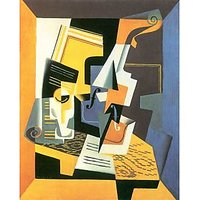 Violin And Glass By Juan Gris - Museum Canvas Print