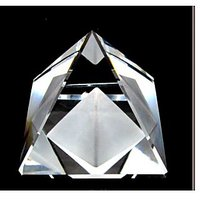 Double Natural Quartz Crystal Healing White Crystal Pyramid