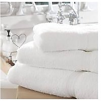 100% Cotton Bath Towels Set Of 2 Premium Large Size White Cotton Towels Set