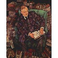 Portrait Of Hugo Koller By Schiele - Fine Art Print