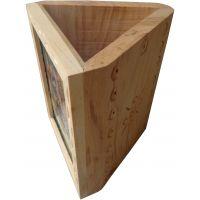 Parvidvap Handicrafts White Wood One Plate Pen Stand - 74479674