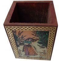 Parvidvap Handicrafts Gems Stone Shisham One Plate Pen Stand - 74480166