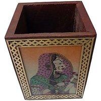 Parvidvap Handicrafts Gems Stone Shisham One Plate Pen Stand