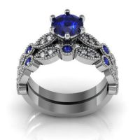 3.35ct Vintage Style Engagement Wedding Bridal Rings Set In 925 Silver Free Gift