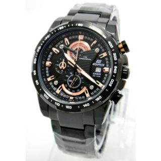 Casio Edifice EFR 523 BK-1A Chronograph White Dial Stainless Steel Mens Watch