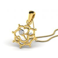 0.02 Cts Sparkles Diamond Pendant  In 18KT Gold