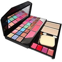T Y A Make-UP Kit With 24 Eye Shadow 2 Compact And 4 Lip Color And 3 Blusher Lap