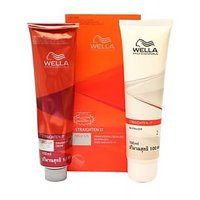 Wella Straighten It Mild For Very Curly Hair Straightening Cream And Neutralizer