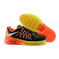 NIKE AIR MAX 2015 MENS SHOES BLACK YELLOW ORANGE