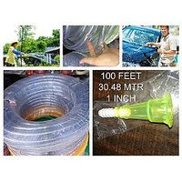 100 Feet 30.48 Meter 1 Inches Volume Pipe For Garden Washing Tank Filling Pump