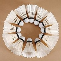 10pcs Sports Game Feather Shuttlecocks Badminton Set - 74521766