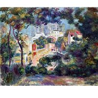 Landscape With A View Of The Sacred Heart By Renoir - Canvas Art Print