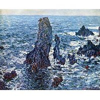 Rocks On Belle-Ile (The Needles Of Port-Coton) By Monet - Fine Art Print