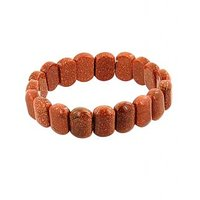 Original And Certified Sunstone Gemstone Beaded Bracelet - 100% Genuine