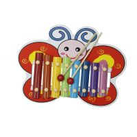 Butterfly Shape Multicolor Wooden Xylophone For Kids Musical Toy With 8 Notes